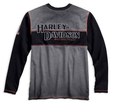 Harley-Davidson Men's Iron Block Colorblocked Long Sleeve Henley 99007-17VM - Wisconsin Harley-Davidson