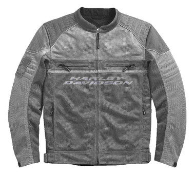 Harley-Davidson Men's Affinity Colorblocked Mesh Riding Jacket, Gray 98296-17VM - Wisconsin Harley-Davidson