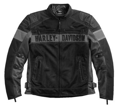 Harley-Davidson Men's Mecca Colorblocked Textile & Mesh Riding Jacket 98295-17VM - Wisconsin Harley-Davidson