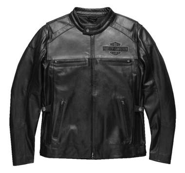 Harley-Davidson Men's Votary Colorblocked Leather Jacket, Black 98119-17VM - Wisconsin Harley-Davidson