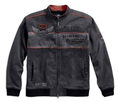 Harley-Davidson Men's Iron Block Colorblocked Casual Jacket, Black 98577-17VM - Wisconsin Harley-Davidson