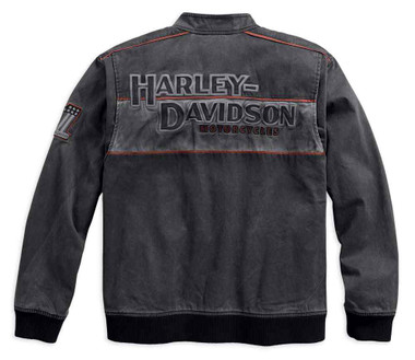 Harley-Davidson Men's Iron Block Colorblocked Casual Jacket, Black 98577-17VM - Wisconsin Harley-Davidson