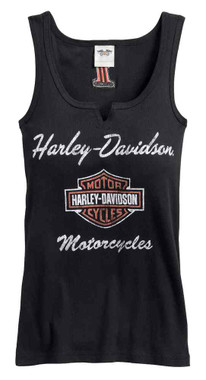 Harley-Davidson Women's Classic Notch-Neck Sleeveless Tank Top 99140-17VW - Wisconsin Harley-Davidson