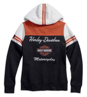 Harley-Davidson Women's Classic Colorblocked Zippered Hoodie 99125-17VW - Wisconsin Harley-Davidson