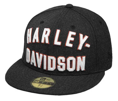 Harley-Davidson Men's Chain Stitch 59THIRTY Baseball Cap, Black 99461-17VM - Wisconsin Harley-Davidson