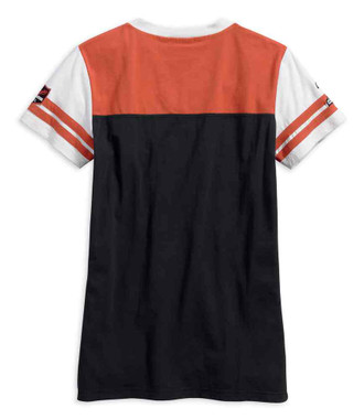 Harley-Davidson Women's Classic Colorblocked Short Sleeve Tee 99142-17VW - Wisconsin Harley-Davidson