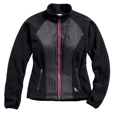 Harley-Davidson Women's Pink Label Stitched Fleece Casual Jacket 98579-17VW - Wisconsin Harley-Davidson