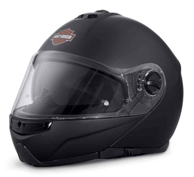 Harley-Davidson Men's Lincoln M02 Modular Helmet, Matte Black 98306-17VX - Wisconsin Harley-Davidson