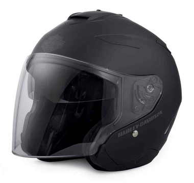 Harley-Davidson Men's Interchangeable Sun Shield 3/4 Helmet, Black 98303-17VX - Wisconsin Harley-Davidson