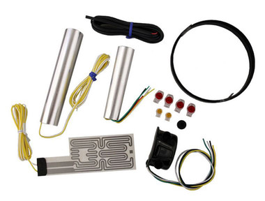 Heat Demon Motorcycle Grip Heater Kit Four-Level Controller, Black Left 211056 - Wisconsin Harley-Davidson