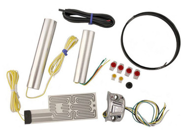 Heat Demon Motorcycle Grip Heater Kit Four-Level Controller, Chrome Left 211055 - Wisconsin Harley-Davidson