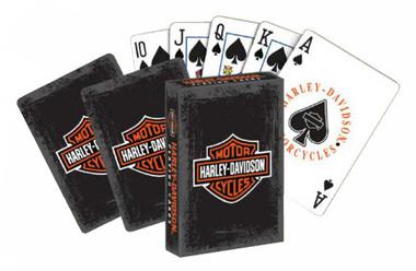 Harley-Davidson Rustic Bar & Shield Logo Standard Size Playing Cards Deck 637 - Wisconsin Harley-Davidson