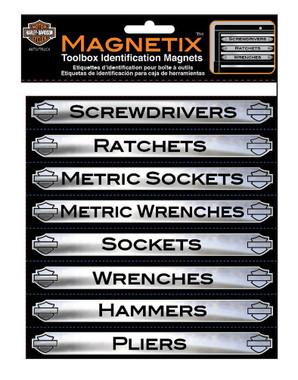 Harley-Davidson Magnetix Toolbox Identification Magnets, 16 Pack CG47000 - Wisconsin Harley-Davidson