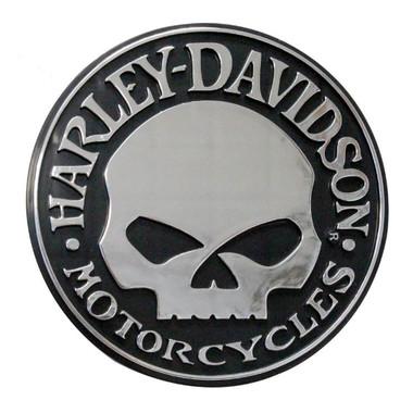 Harley-Davidson Willie G Skull Chrome Injection Molded Emblem, Chrome CG9113 - Wisconsin Harley-Davidson