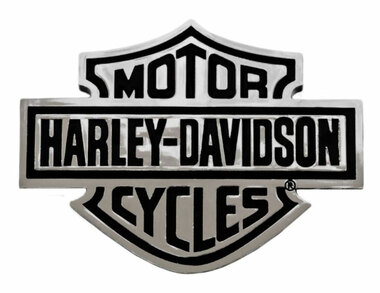 Harley-Davidson Bar & Shield Chrome Injection Molded Emblem, Chrome CG9107 - Wisconsin Harley-Davidson