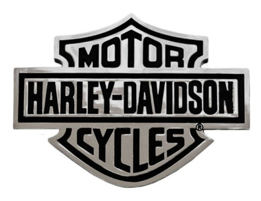 Harley-Davidson Bar & Shield Chrome Injection Molded Emblem, Chrome CG9107 - Wisconsin Harley-Davidson