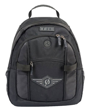 ROUT Adventurer Day Backpack, Strong Wear-Resistant Nylon, Solid Black RBP9137 - Wisconsin Harley-Davidson