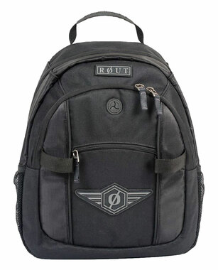 ROUT Adventurer Day Backpack, Strong Wear-Resistant Nylon, Solid Black RBP9137 - Wisconsin Harley-Davidson