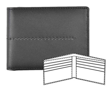 ROUT Entrepreneur Classic Billfold Wallet, Full Grain Black Leather RLN30524 - Wisconsin Harley-Davidson