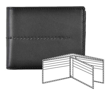 ROUT Entrepreneur Billfold w/ Flip Out Wallet, Full Grain Black Leather RLN30592 - Wisconsin Harley-Davidson