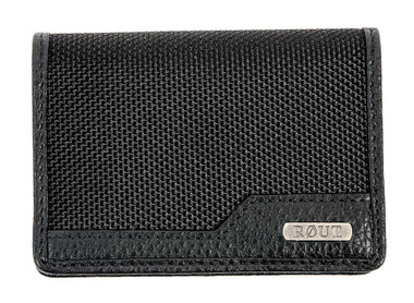 ROUT Competitor Ballistic Card Holder, Full Grain Leather Trim, Black RBN22074 - Wisconsin Harley-Davidson