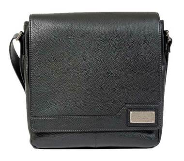 ROUT Competitor Leather Vertical Messenger, Full-Grain Black Leather RBN25453 - Wisconsin Harley-Davidson