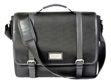 ROUT Competitor Ballistic Messenger Bag, Full-Grain Leather Trim, Black RBN22002 - Wisconsin Harley-Davidson