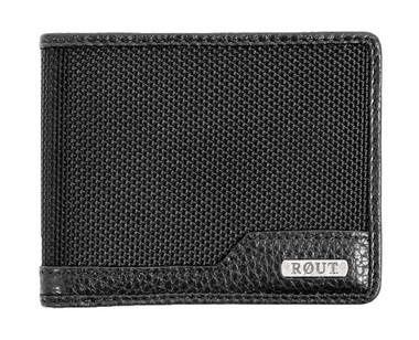 ROUT Competitor Ballistic Slim Billfold Wallet, Full-Grain Leather Trim RBN22068 - Wisconsin Harley-Davidson