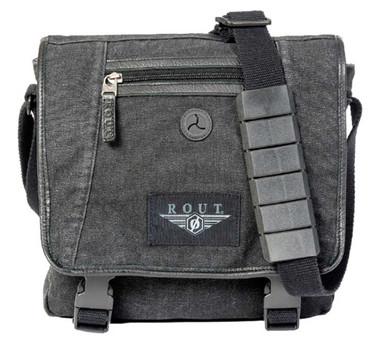 ROUT Voyager Vertical Messenger Bag, Washed Black Cotton Canvas RC10539 - Wisconsin Harley-Davidson