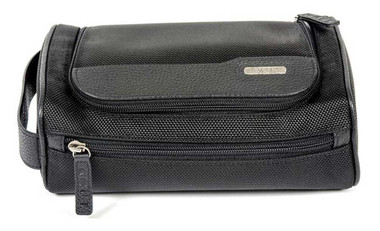 ROUT Explorer Top Flap Toiletry Shave Kit, Ballistic Nylon/Leather Trim RBN23058 - Wisconsin Harley-Davidson