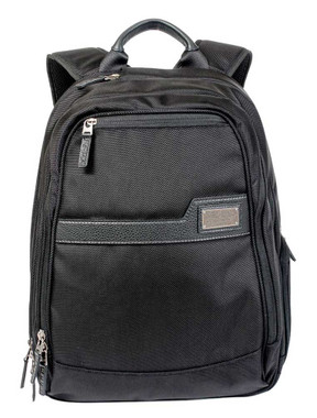 ROUT Competitor Ballistic / Leather Backpack, Zippered Laptop Pocket RBN22036 - Wisconsin Harley-Davidson