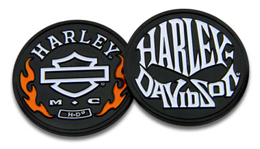 Harley-Davidson Flames & H-D Skull Challenge Coin, 1.75 in Coin, Black 8005078 - Wisconsin Harley-Davidson