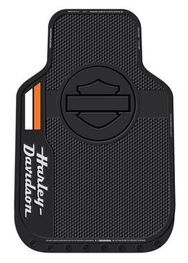 Harley-Davidson Stacked Bar & Shield Logo Floor Mats, Non-Carpeted, Black 1585 - Wisconsin Harley-Davidson