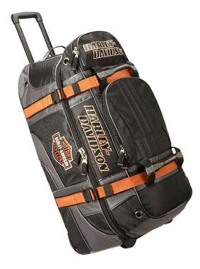 "Harley-Davidson Bar & Shield Logo 33"" XLG Wheeling Duffel Bag 99410-BLACK - Wisconsin Harley-Davidson"