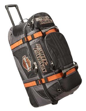 "Harley-Davidson Bar & Shield Logo 22"" Carry-On Wheeling Duffel Bag 99415-BLACK - Wisconsin Harley-Davidson"