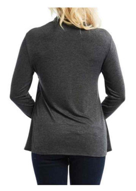 Harley-Davidson Women's No Surrender 2-IN-1 Shirt & Cardigan, Charcoal - Wisconsin Harley-Davidson