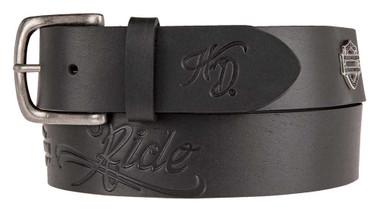 Harley-Davidson Women's Brandy Embossed Genuine Leather Belt HDWBT11201-BLK - Wisconsin Harley-Davidson