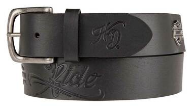 Harley-Davidson Women's Brandy Embossed Genuine Leather Belt HDWBT11201-BLK - Wisconsin Harley-Davidson
