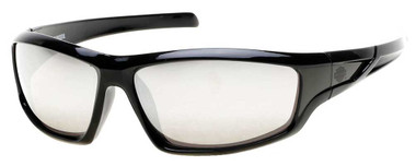 Harley-Davidson Men's Bar & Shield Rubber Sunglasses, Black Frame & Silver Lens - Wisconsin Harley-Davidson