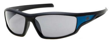 Harley-Davidson Men's Bar & Shield Rubber Sunglasses, Black Frame & Smoke Lens - Wisconsin Harley-Davidson