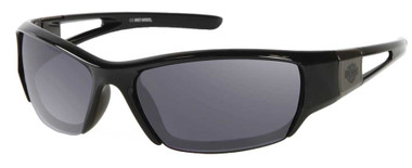 Harley-Davidson Men's Bar & Shield Plastic Sunglasses, Black Frame & Gray Lenses - Wisconsin Harley-Davidson
