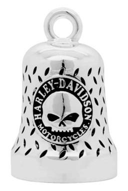 Harley-Davidson Willie G Skull Diamond Plated Ride Bell, Chrome Finish HRB078 - Wisconsin Harley-Davidson