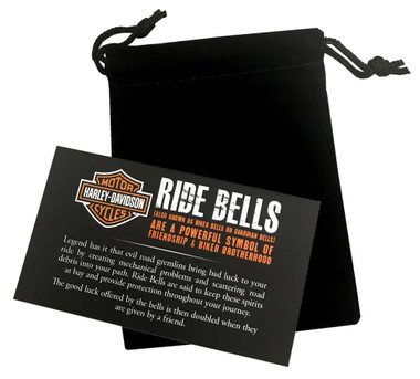 Harley-Davidson Willie G Skull Diamond Plated Ride Bell, Matte Black HRB079 - Wisconsin Harley-Davidson