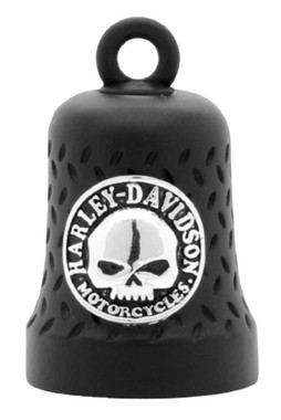 Harley-Davidson Willie G Skull Diamond Plated Ride Bell, Matte Black HRB079 - Wisconsin Harley-Davidson