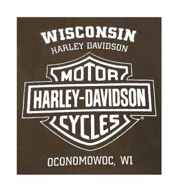 Harley-Davidson Men's Bad Manners Winged Skull Short Sleeve T-Shirt, Dark Brown - Wisconsin Harley-Davidson