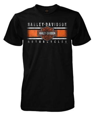 Harley-Davidson Men's Iconic Bar & Shield Short Sleeve T-Shirt, Solid Black - Wisconsin Harley-Davidson