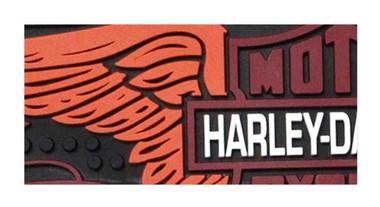 Harley-Davidson Winged Bar & Shield Rubber Beverage Bar Mat, Black HDL-18566 - Wisconsin Harley-Davidson