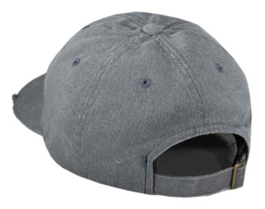 Harley-Davidson Men's Bar & Shield Frayed Logo Baseball Cap, Gray 99412-16VM - Wisconsin Harley-Davidson