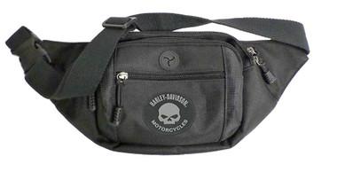 Harley-Davidson Willie G Skull Logo Crossbody/Waistpack Bag, Black BP2252S-BLACK - Wisconsin Harley-Davidson