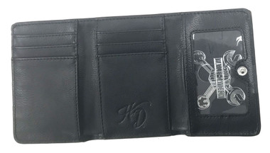 Harley-Davidson Women's Celtic Embossed B&S Leather Wallet HDWWA11174-BLK - Wisconsin Harley-Davidson